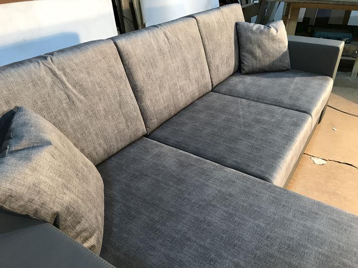 серый угловой диван на заказ
