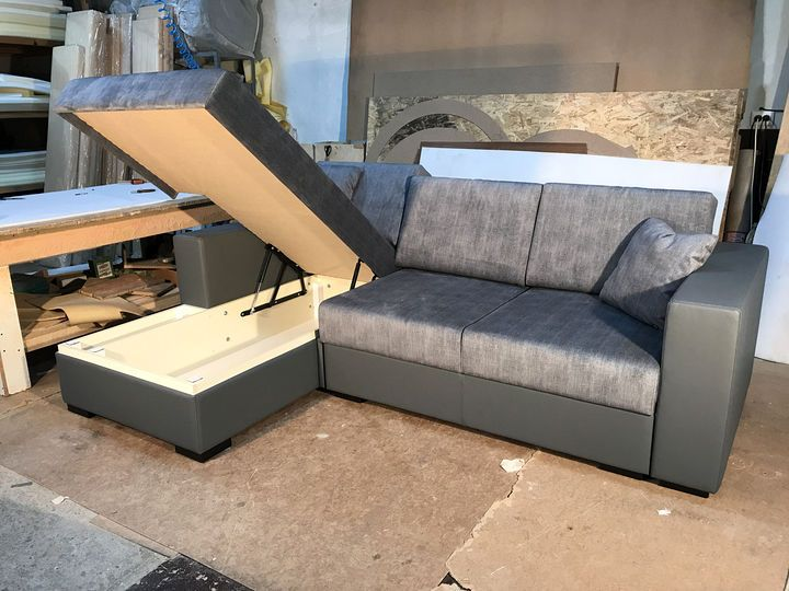 кутовий диван з ящиком на замовлення