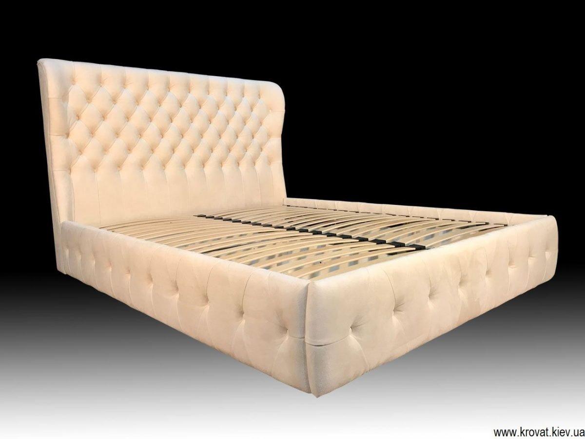 белые кровати с мягким изголовьем на заказ