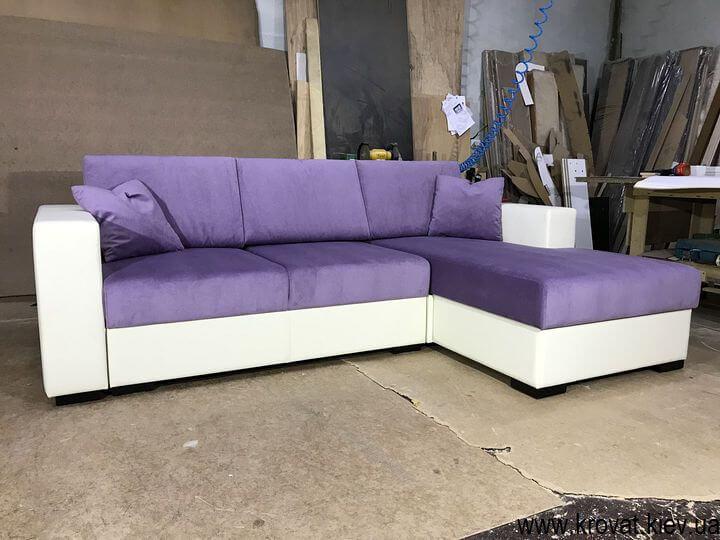 угловой диван на заказ с раскладным механизмом пума
