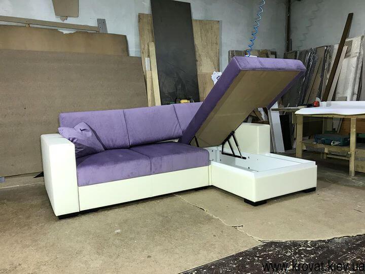 раскладной диван с нишей на заказ