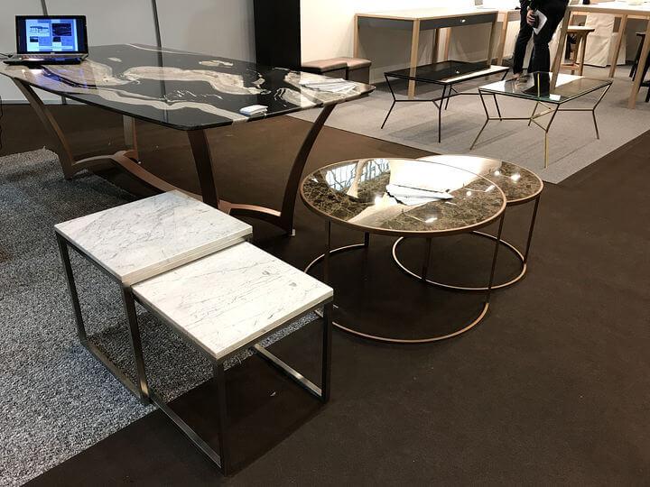 мебель из металла и камня