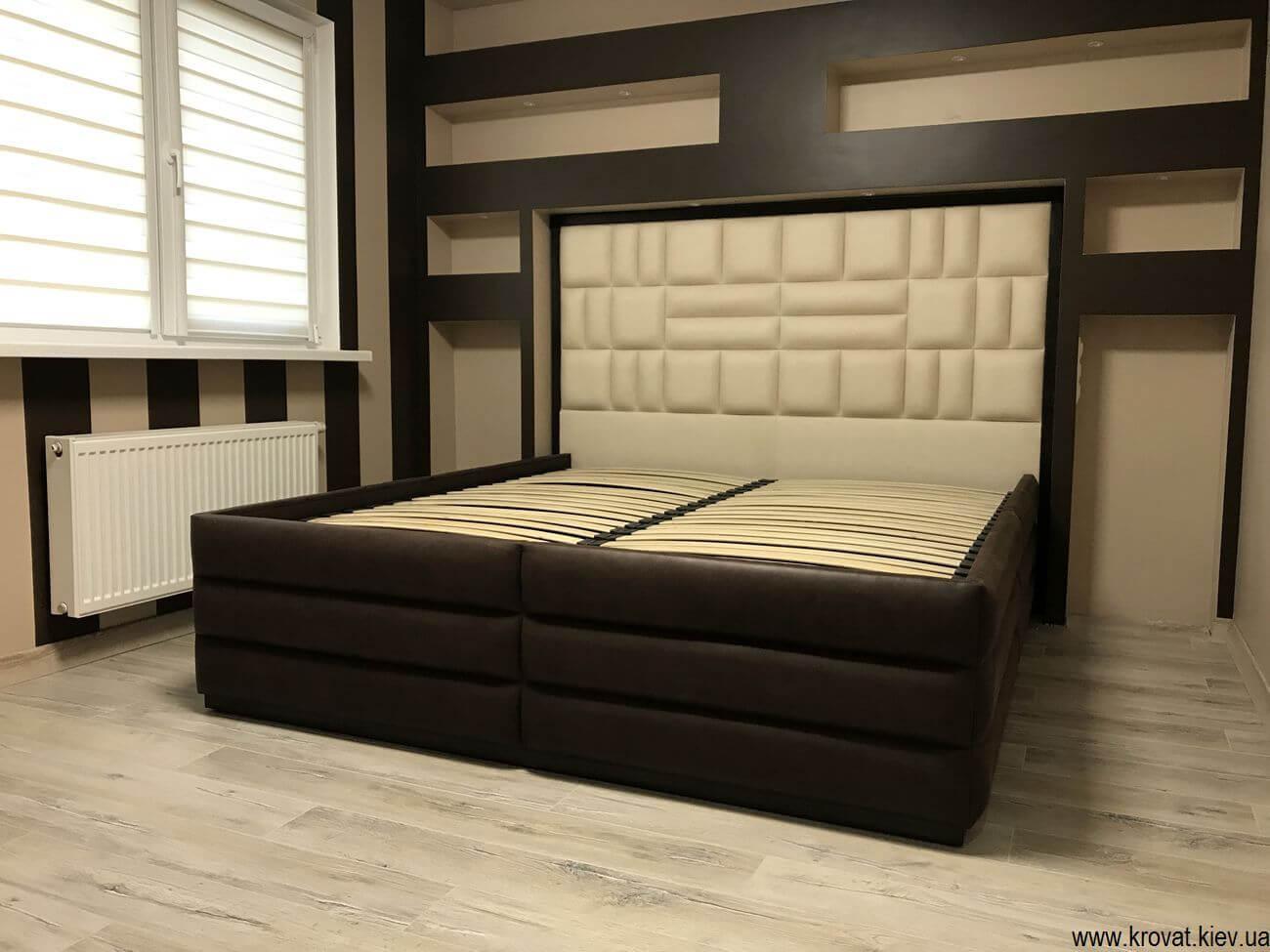 двуспальная стильная кровать на заказ