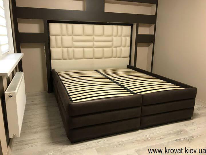 кровать с высоким подиумом на заказ