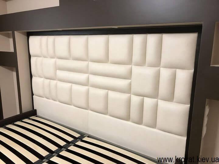 ліжко узголів'ям в нішу на замовлення