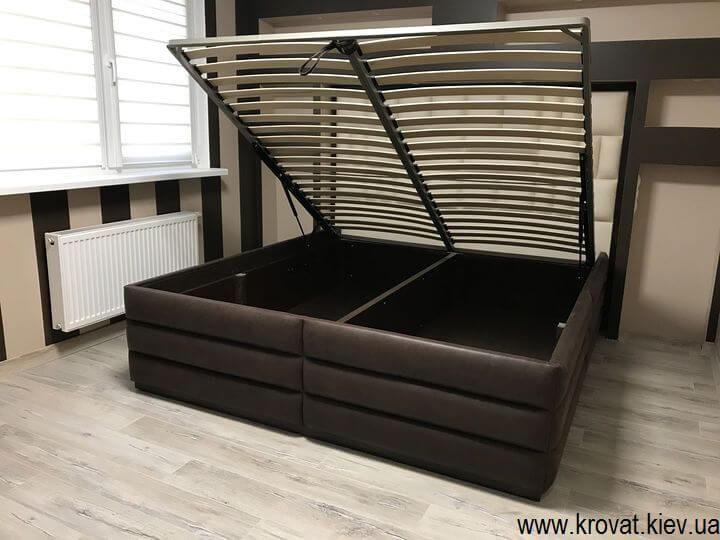 кровать американского типа с нишей на заказ