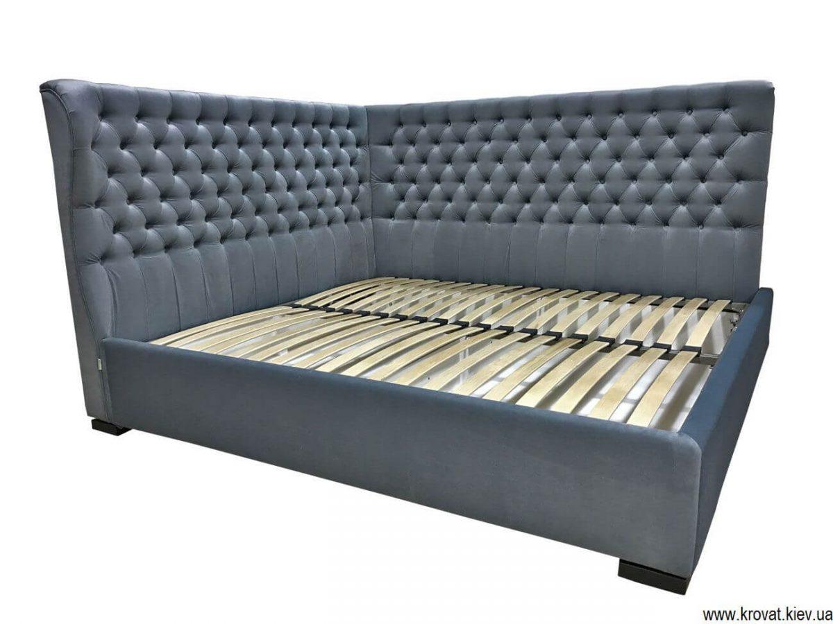 ліжко двоспальне кутове