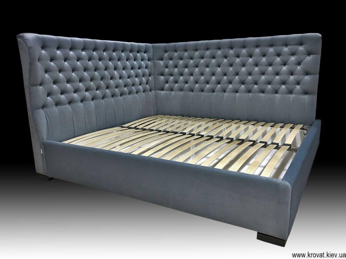 ліжко двоспальне кутове на замовлення