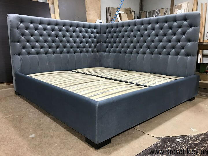 кровать двуспальная угловая на заказ