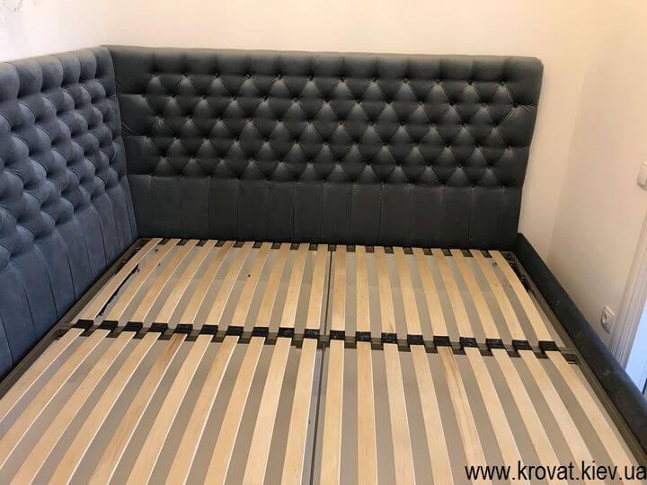 кутове ліжко з гудзиками на замовлення