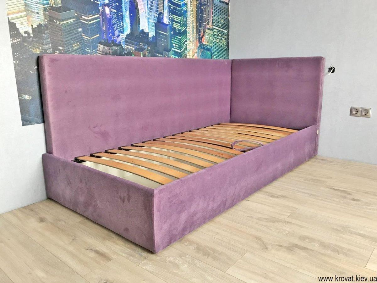 односпальная угловая кровать на заказ в Киеве