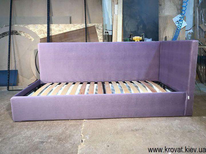 изготовление односпальных угловых кроватей на заказ