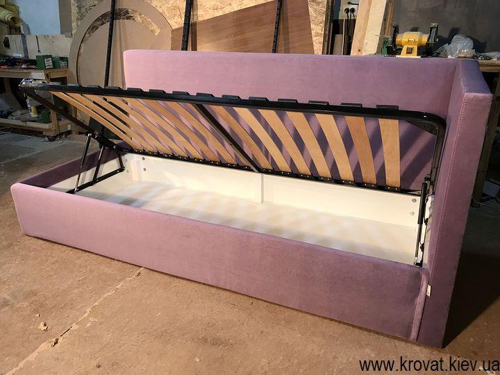 односпальне ліжко з ящиком для білизни на замовлення