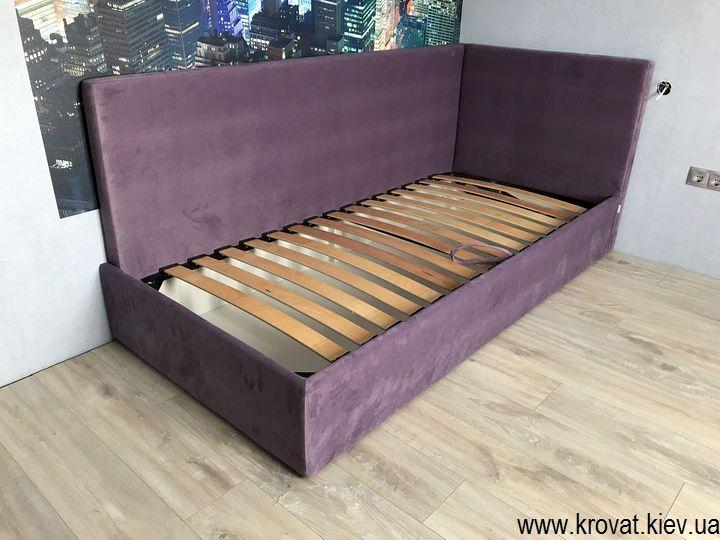 кровать для подростка с мягкой спинкой на заказ