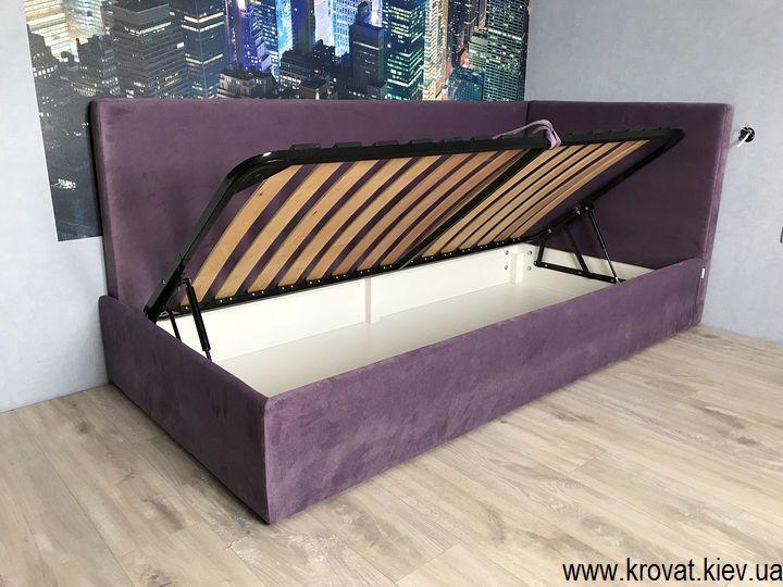 ліжко кутом в спальню для дитини на замовлення