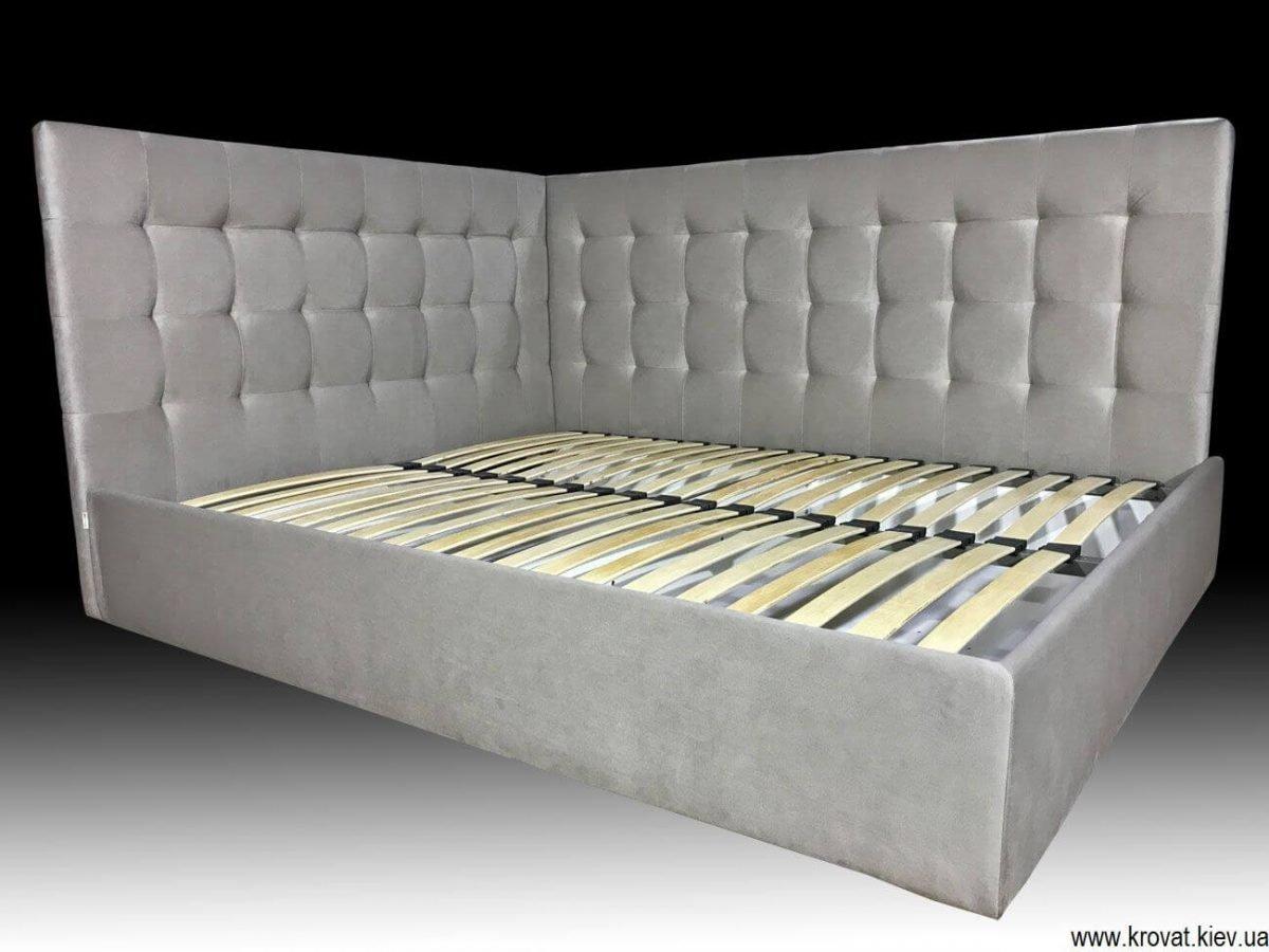 угловая двуспальная кровать на заказ