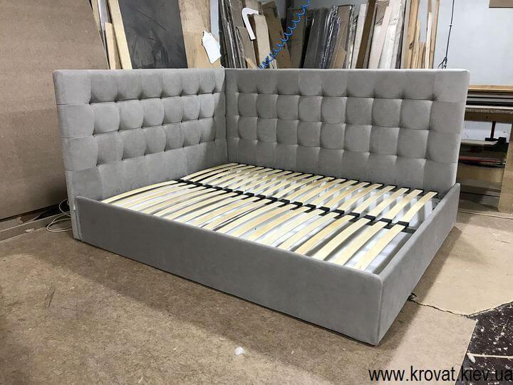 кровать углом в спальню