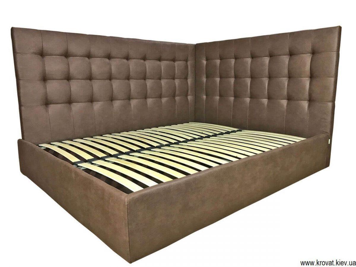 двоспальне ліжко з бічною спинкою