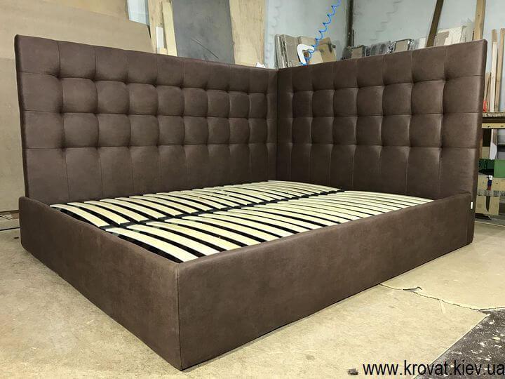 ліжко в кут спальні на замовлення