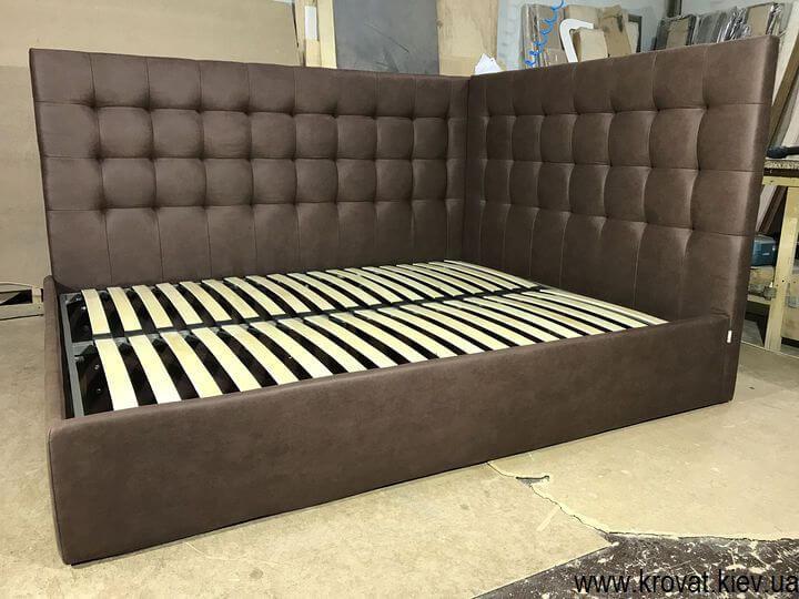 двоспальне ліжко з бічною спинкою на замовлення