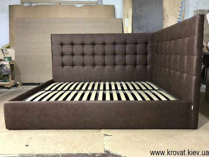 кровать с двумя мягкими спинками на заказ