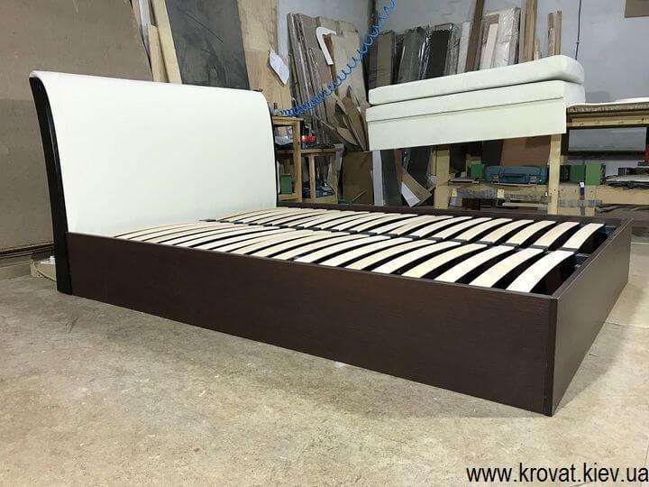 ліжко 140х200 з м'яким узголів'ям на замовлення