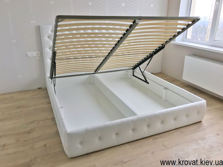 кровать без ножек с подъемным механизмом на заказ