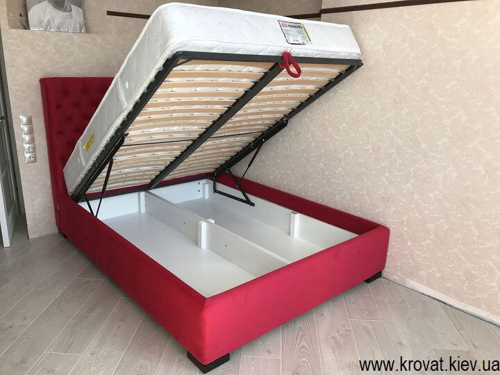 кровать с газовым подъемным механизмом на заказ