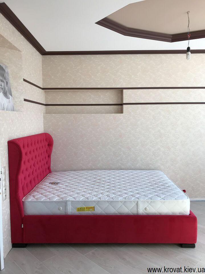 кровать с подъемным механизмом 140х200 в интерьере спальни