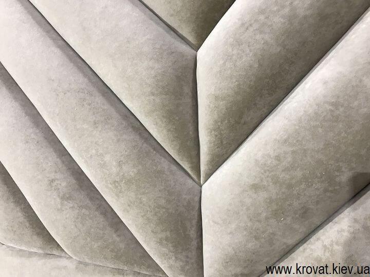 кровать с полосами по диагонали на заказ