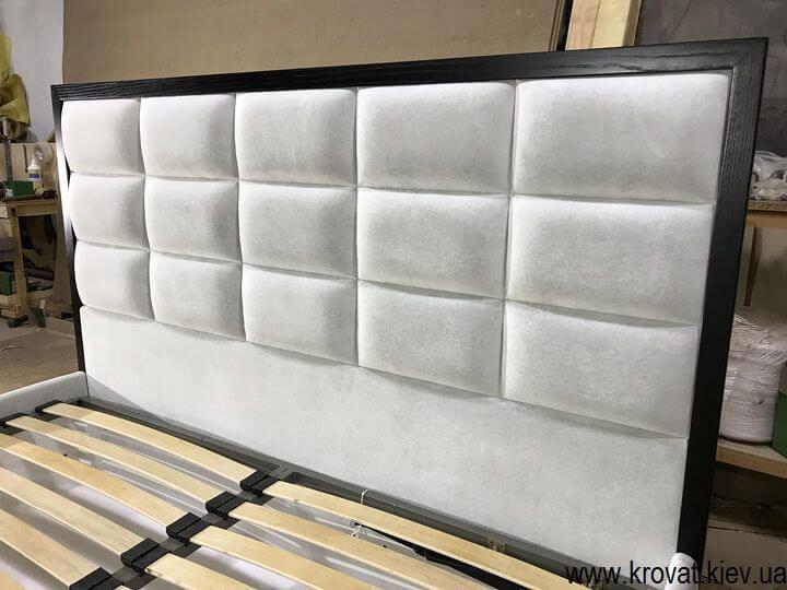 кровать Женева с деревянным обрамлением спинки на заказ