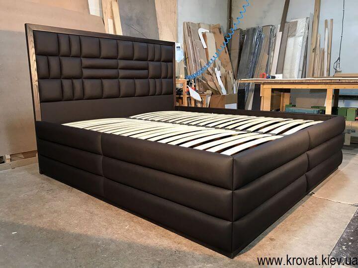 высокая двуспальная кровать на заказ