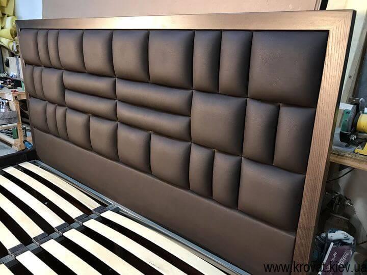 узголів'я ліжка з дерев'яною рамкою на замовлення