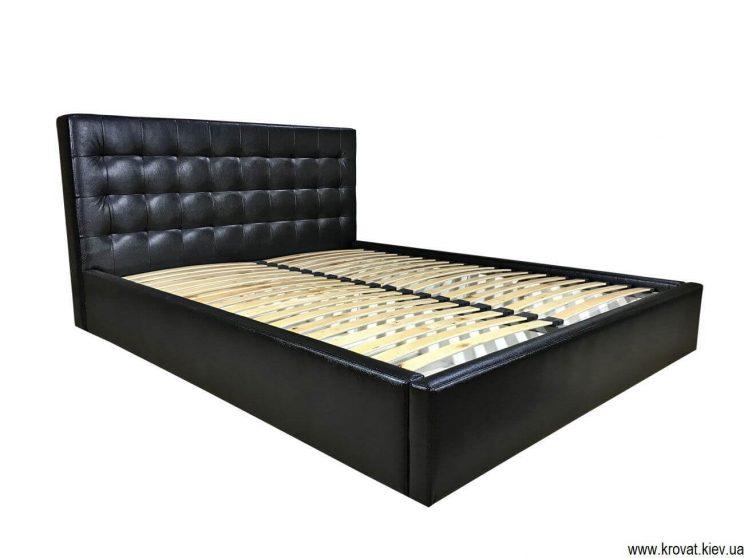 ліжко зі шкірозамінника