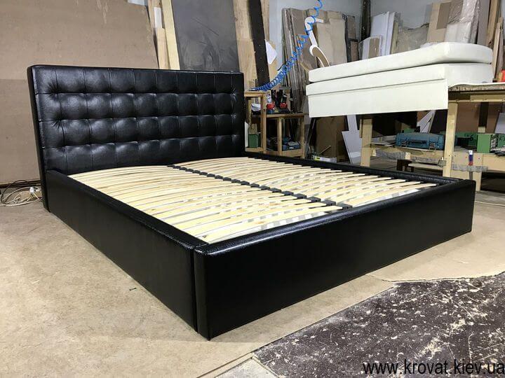 виготовлення ліжок зі шкірозамінника на замовлення