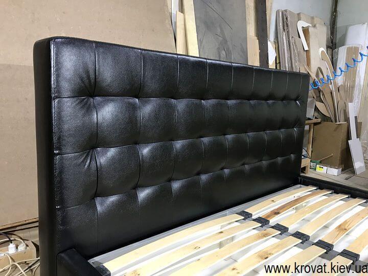 двуспальная кровать из кожзаменителя на заказ