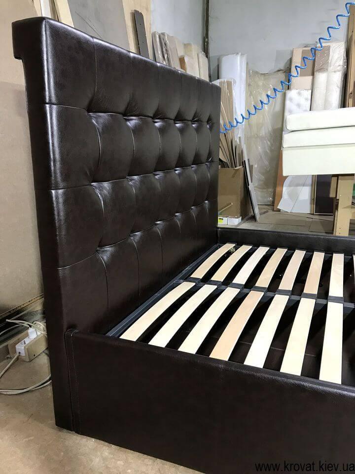чорне ліжко полуторка на замовлення