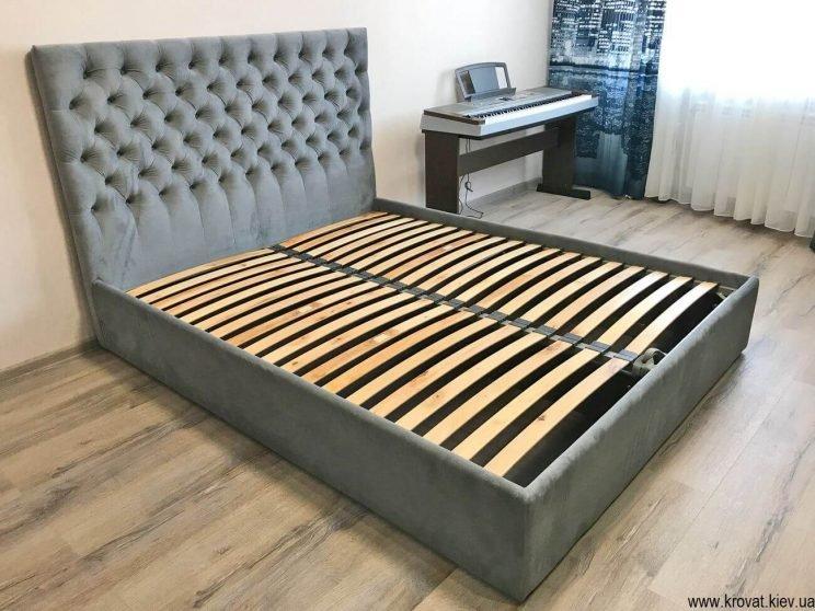 ліжка з узголів'ям з тканини в спальню на замовлення