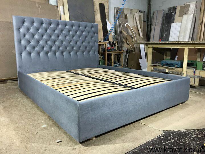 ліжко з узголів'ям з тканини з підйомним механізмом на замовлення