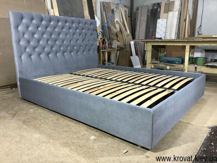 ліжко з узголів'ям з тканини
