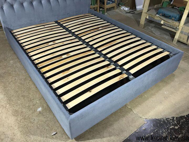ортопедичне ліжко з узголів'ям з тканини на замовлення