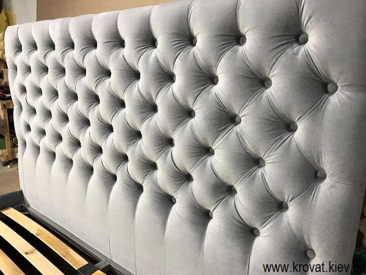 узголів'я ліжка з тканини на замовлення