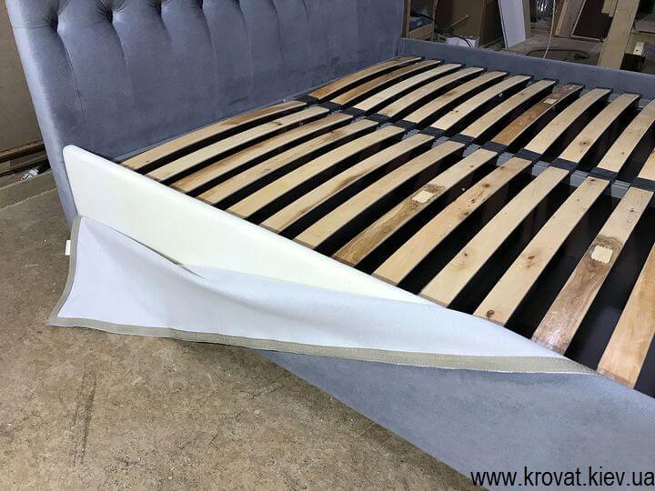 ліжко зі спинкою з тканини на замовлення
