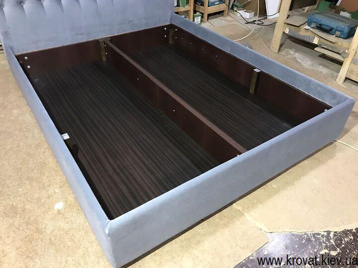 ліжко з узголів'ям з тканини з ящиком на замовлення