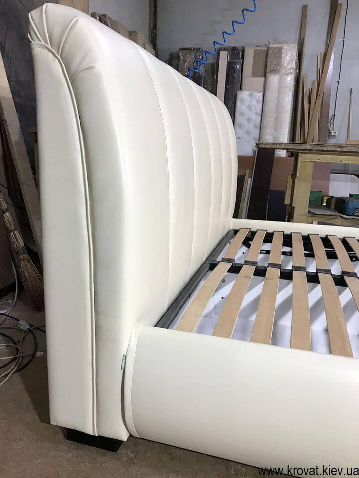 ліжко євро розмір з м'яким узголів'ям на замовлення