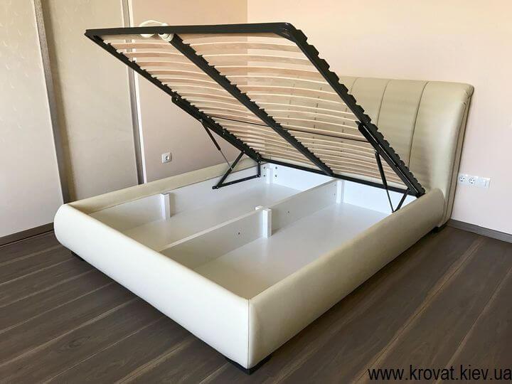 двуспальная кровать евро размер с подъемным механизмом на заказ