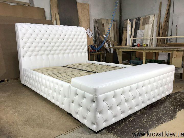 кровать с пуфом на заказ