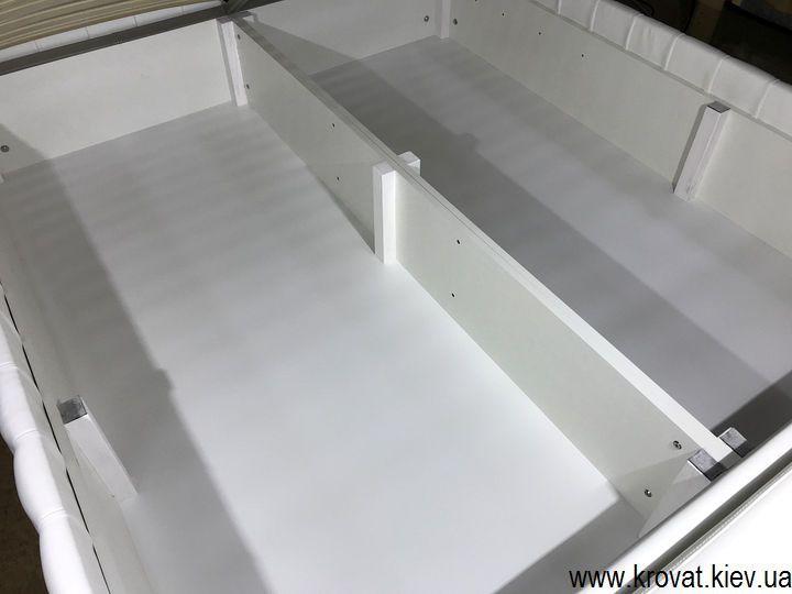 кровать с нишей для белья на заказ