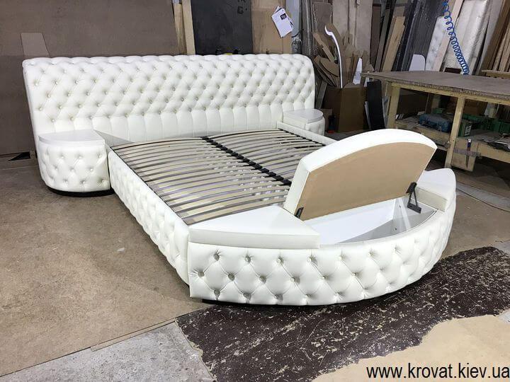 кровать кинг сайз с банкеткой на заказ