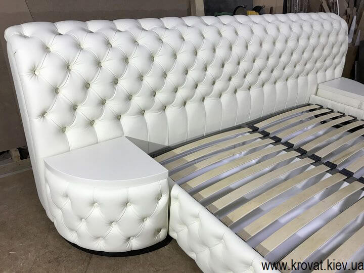 кровать кинг сайз с широким изголовьем на заказ